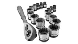 Craftsman 19-piece Inch and Metric Universal Socket Wrench Set