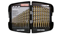Craftsman 21 pc. Titanium Coated Drill Bit Set