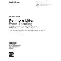 Kenmore Washing Machine Model 110 Manual