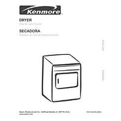 Kenmore Washer Dryer 70 Series Manual