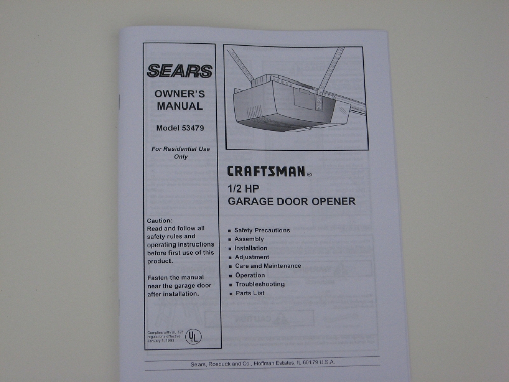 114A1846 Owners Manual at Sears.com