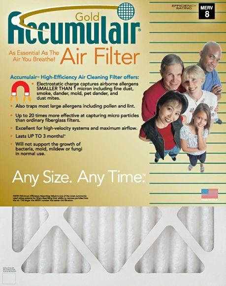 Accumulair Gold Air Filter, 16 x 20 x 2, 4-pack