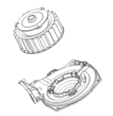 Washer/Dryer Combo Heater Fan Motor