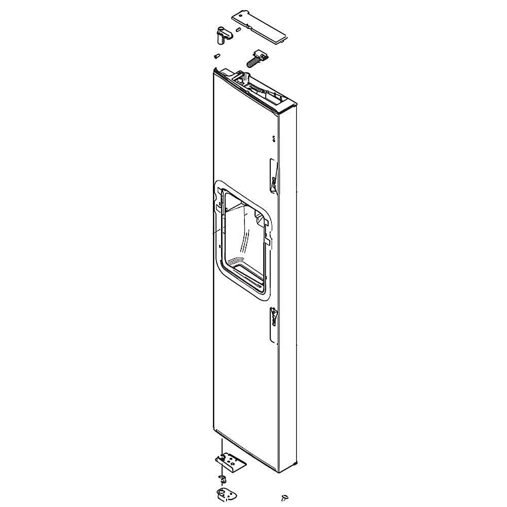 DA82-02516A-Refrigerator Freezer Door Assembly
